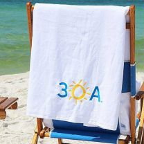 30A Embroidered Beach Towel
