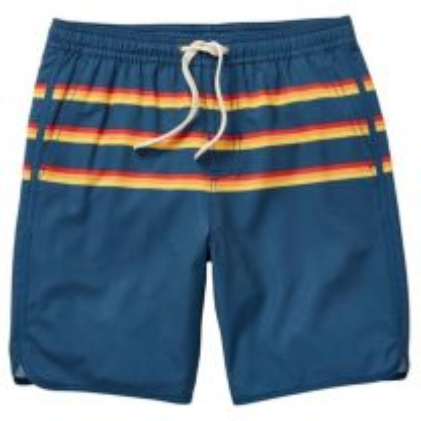 Boy's 3 Stripe Anchor Swim Trunks