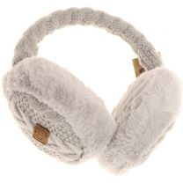 Cable Knit Fur Earmuff