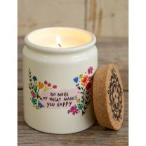 Ceramic Jar Candle - What Makes You Happy