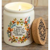 Ceramic Jar Candle - Will Not Stress