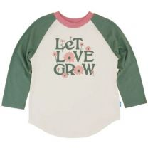 Girl's Let Love Grow Raglan Tee