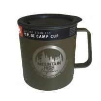 GSI Glacier Stainless Camp Cup Mountain High Logo