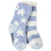 Kid's Snug Cozy Crew Socks W/ Grippers