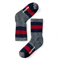 Kids' Striped Medium Hiking Crew Socks