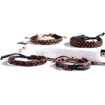 Leather Braid Bracelets (Assorted Styles/Colors)