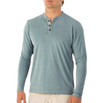 Men's Bamboo Flex Henley 3-Button Long Sleeve Performance Shirt