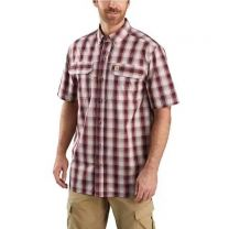 Men's Force Relaxed Fit Short Sleeve Plaid Shirt