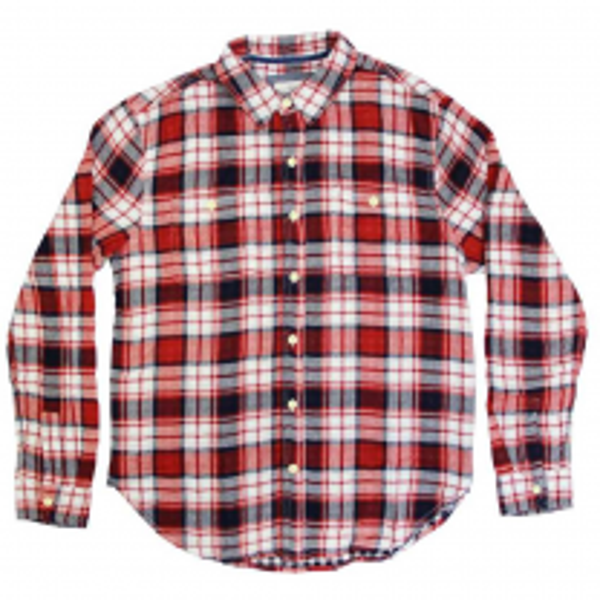 Men's Hampton Plaid 2 Pocket Long Sleeve Shirt
