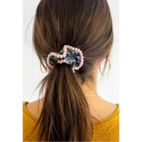 Small Pom Pom Scrunchie Set