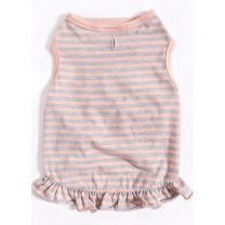 Striped Ruffle Top for Dogs