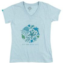 Women's Keep Our Beach Happy V-Neck