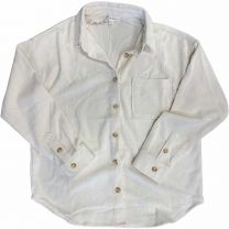Women's Corded Button Up Top