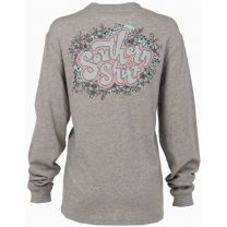 Women's Far Out Floral Tee LS