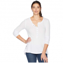 W RAYON WAFFLE SNAP FRONT TOP