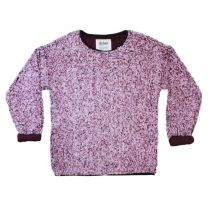 Women's Solid Frosty Tipped Drop Shoulder Crew