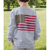 Youth Vintage Flag Tee - Long Sleeve