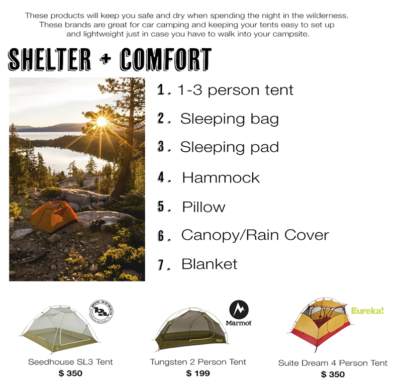 Shelter and Comfort