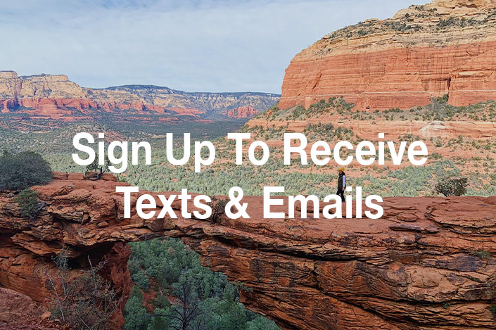 Sign Up For Text Messages and Emails Now!